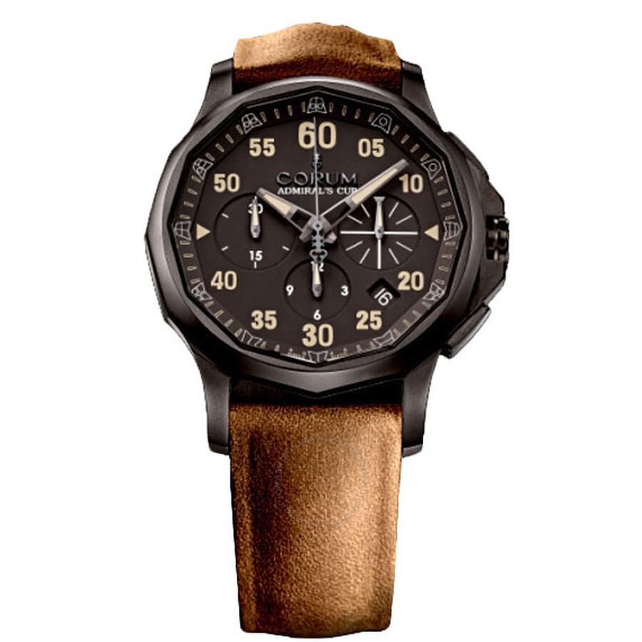 Corum Admirals Cup Black Dial Mens Watch 98410198/F502AN