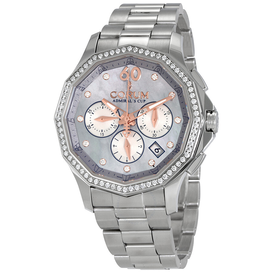 Corum Admirals Cup Legend Mother of Pearl Diamond Dial Ladies Watch A132/03421