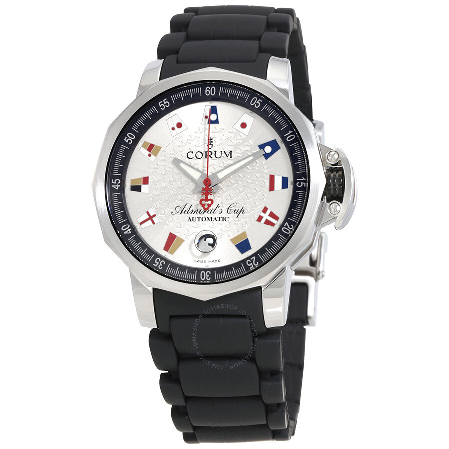 Corum admirals cup trophy silver dial automatic men 39 s watch a082 03499 corum watches jomashop for Corum watches