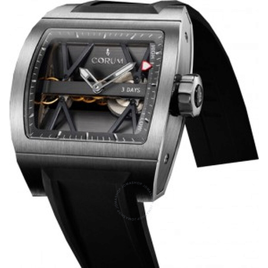 Corum Ti-Bridge Power Reserve Black Dial Mens Watch 10710104/F371
