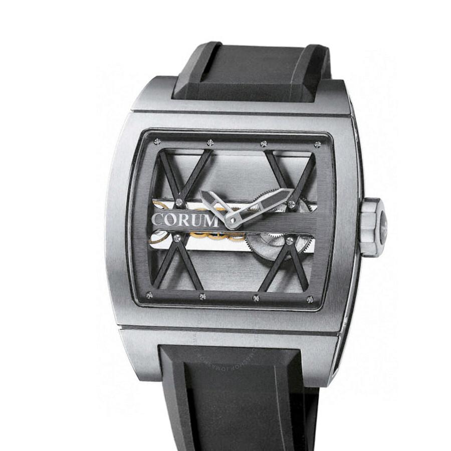 Corum Ti-Bridge Skeleton Black Dial Mens Watch 007.400.06/F371