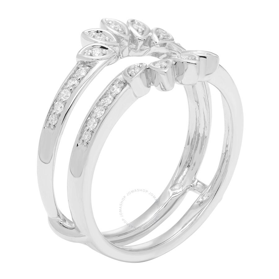 Cya K Diamond Wedding Ring Enhancer 20ct 14k White Gold R124075w 6 Size