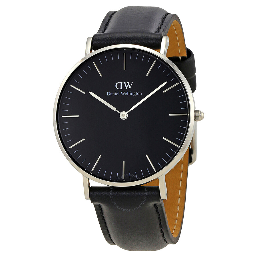 daniel wellington daniel wellington classic black sheffield silver 36mm watch dw00100145