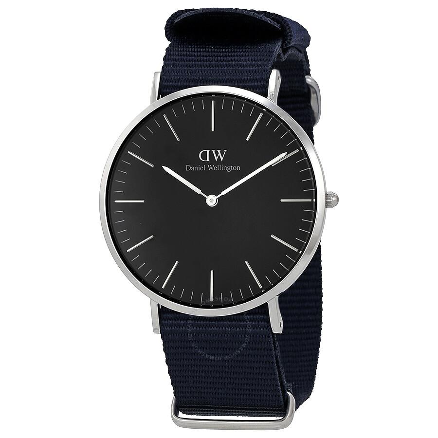 daniel wellington daniel wellington classic cornwall black dial 40mm watch dw00100149