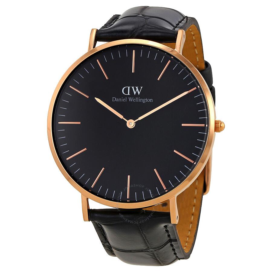 daniel wellington daniel wellington classic reading black dial 40 mm watch dw00100129
