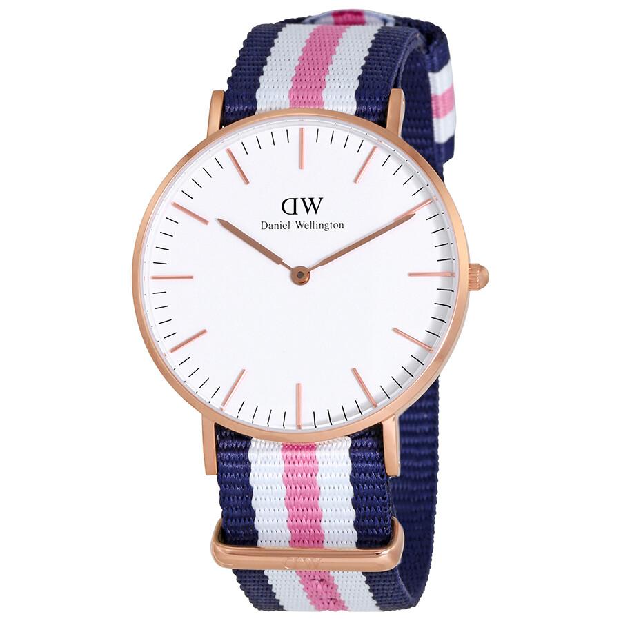 daniel wellington female daniel wellington classic southampton white dial ladies nylon watch dw00100034