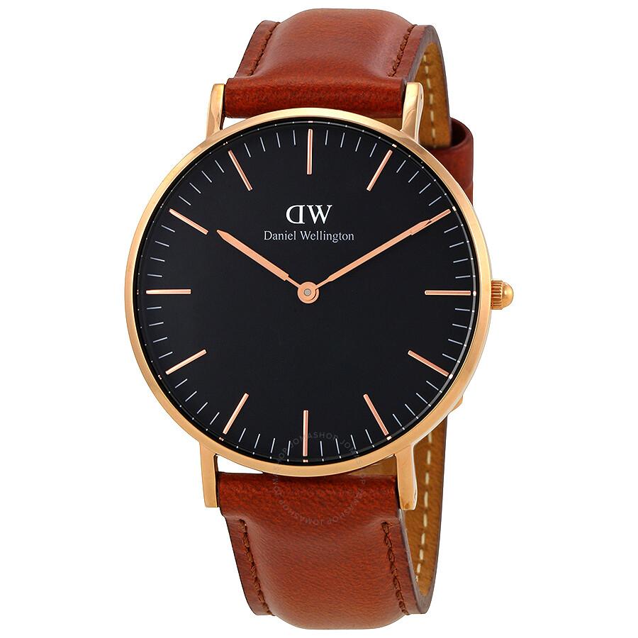 daniel wellington daniel wellington classic st mawes black dial 36mm watch dw00100136