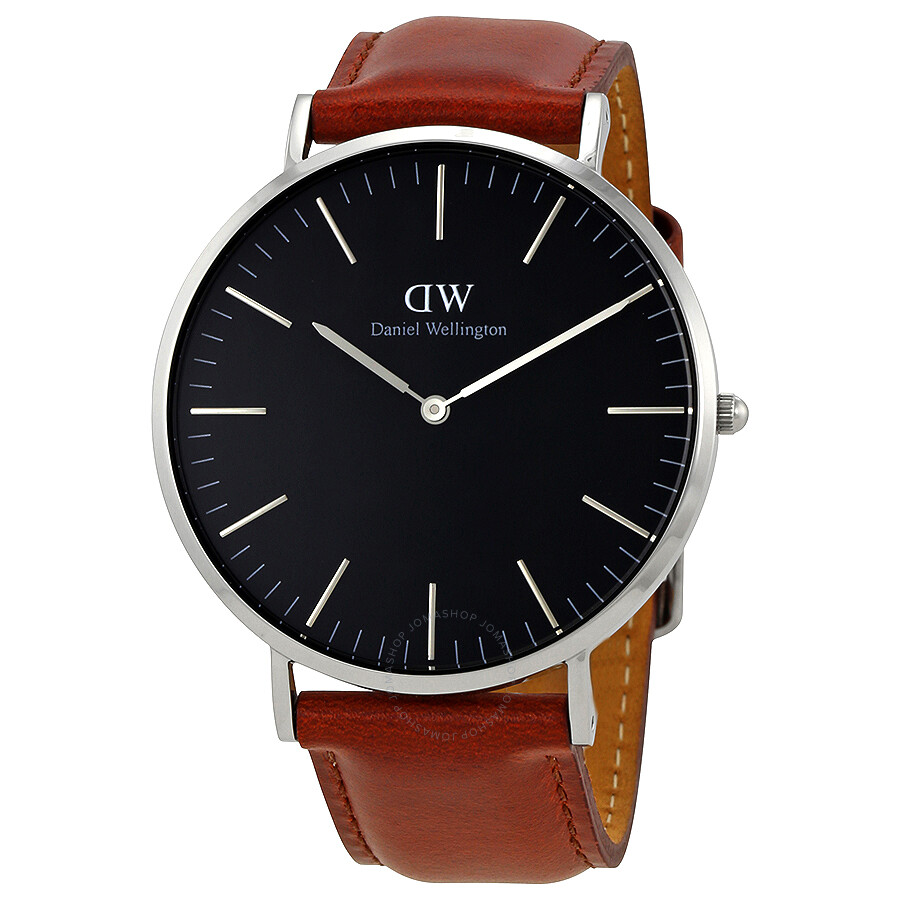 daniel wellington daniel wellington classic st mawes black dial 40 mm watch dw00100130