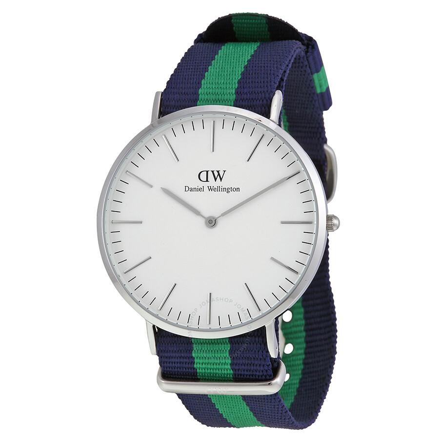 daniel wellington male daniel wellington classic warwick white dial mens watch 0205dw