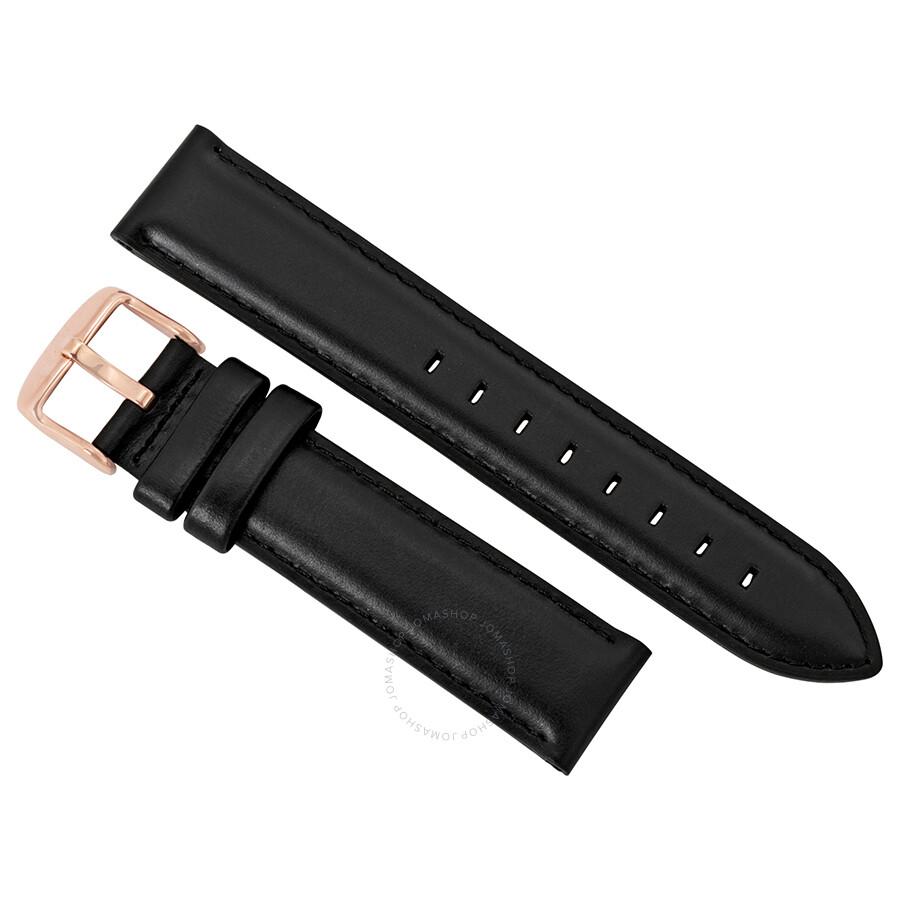 daniel wellington 188971 daniel wellington dapper sheffield black leather watch strap 1201dw