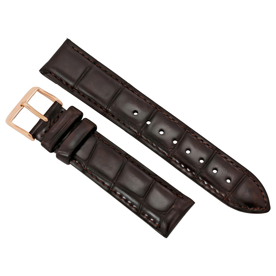 daniel wellington daniel wellington dapper york dark brown leather watch strap 1202dw