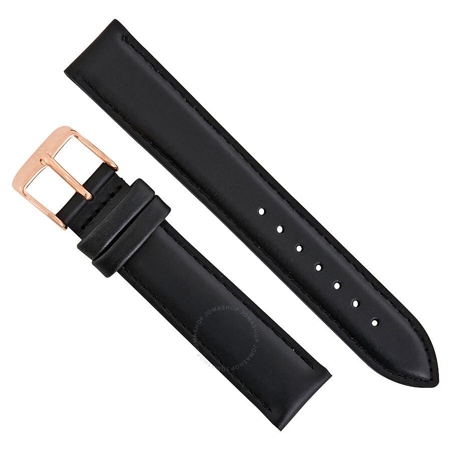 daniel wellington 188971 daniel wellington sheffield 17mm black leather watch strap dw00200120
