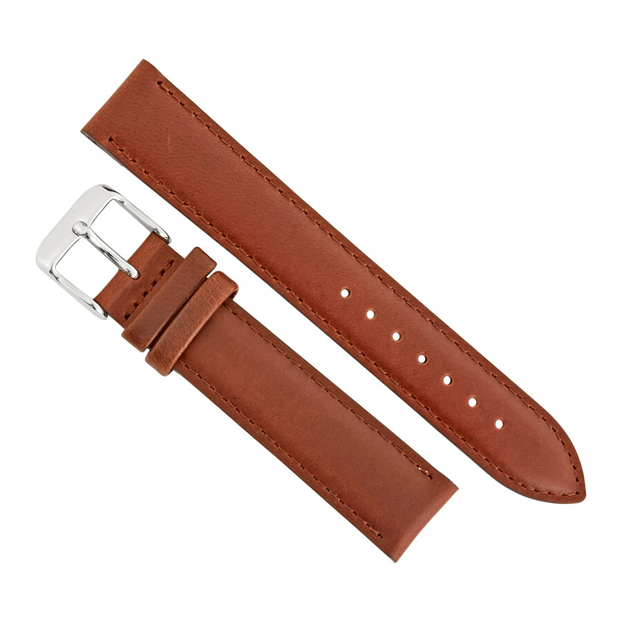 daniel wellington daniel wellington st mawes 17 mm brown leather watch strap dw00200121