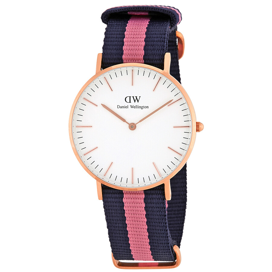 daniel wellington female daniel wellington winchester white dial ladies watch dw00100033