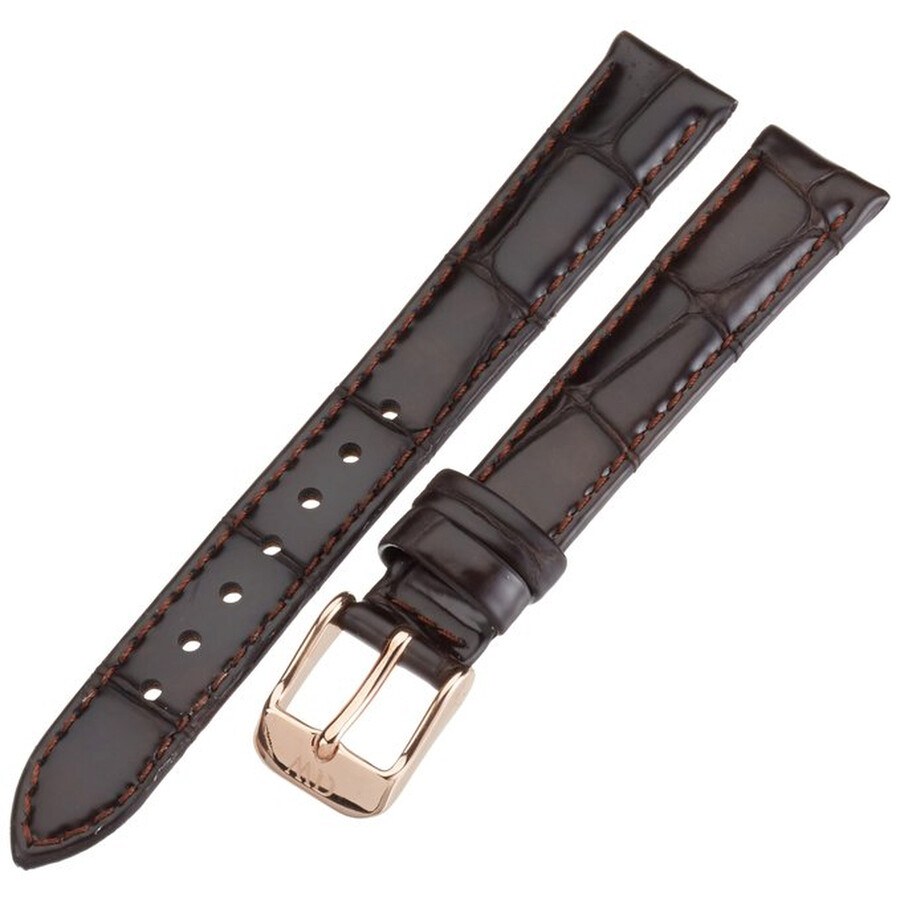 daniel wellington daniel wellington york 13mm brown leather watch band strap 1002dw