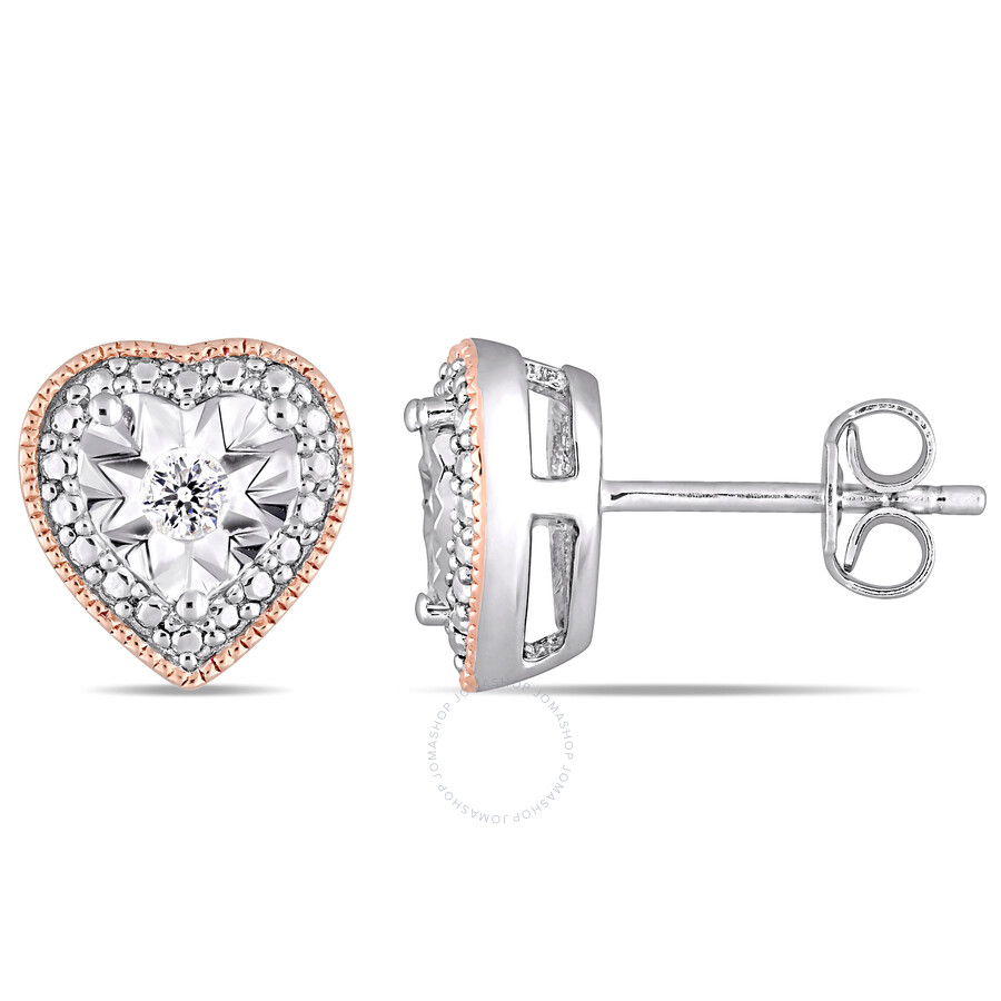 earrings wall shaped heart basement stud studs diamond