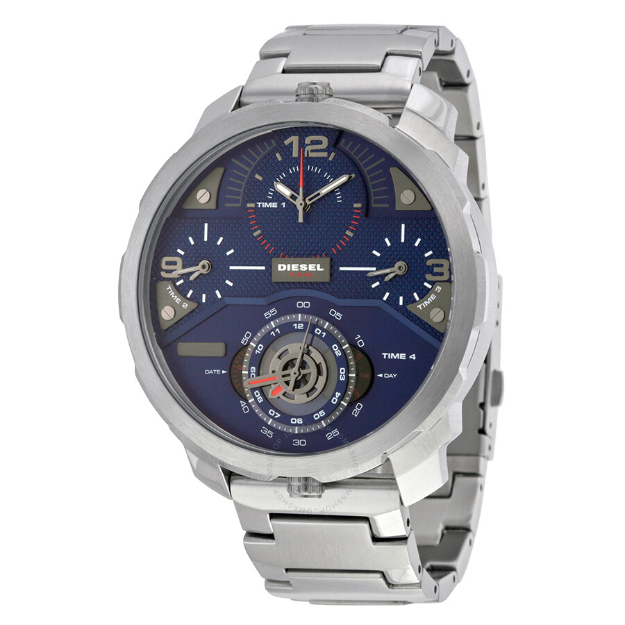 diesel male diesel machinus chronograph four time zone dial mens watch dz7361
