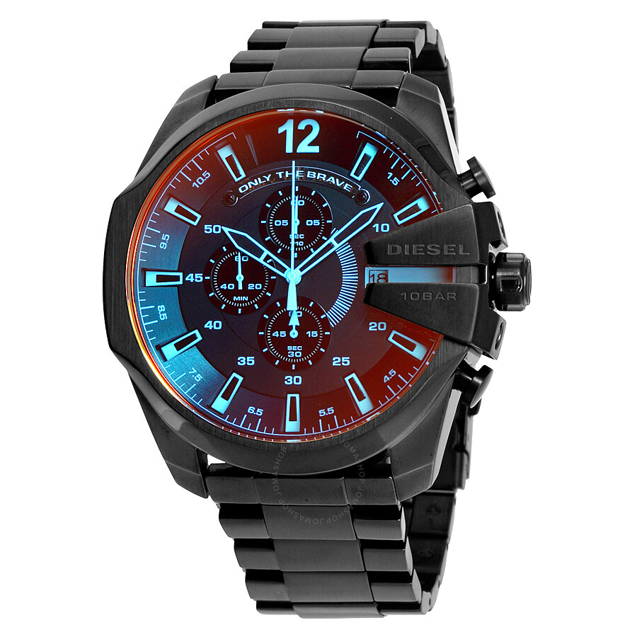 mega diesel chronograph youtube chief xl watches watch metal gun