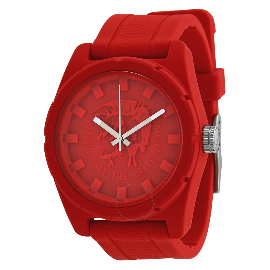 double men down p s chronograph diesel mens silicone watch red watches franchise
