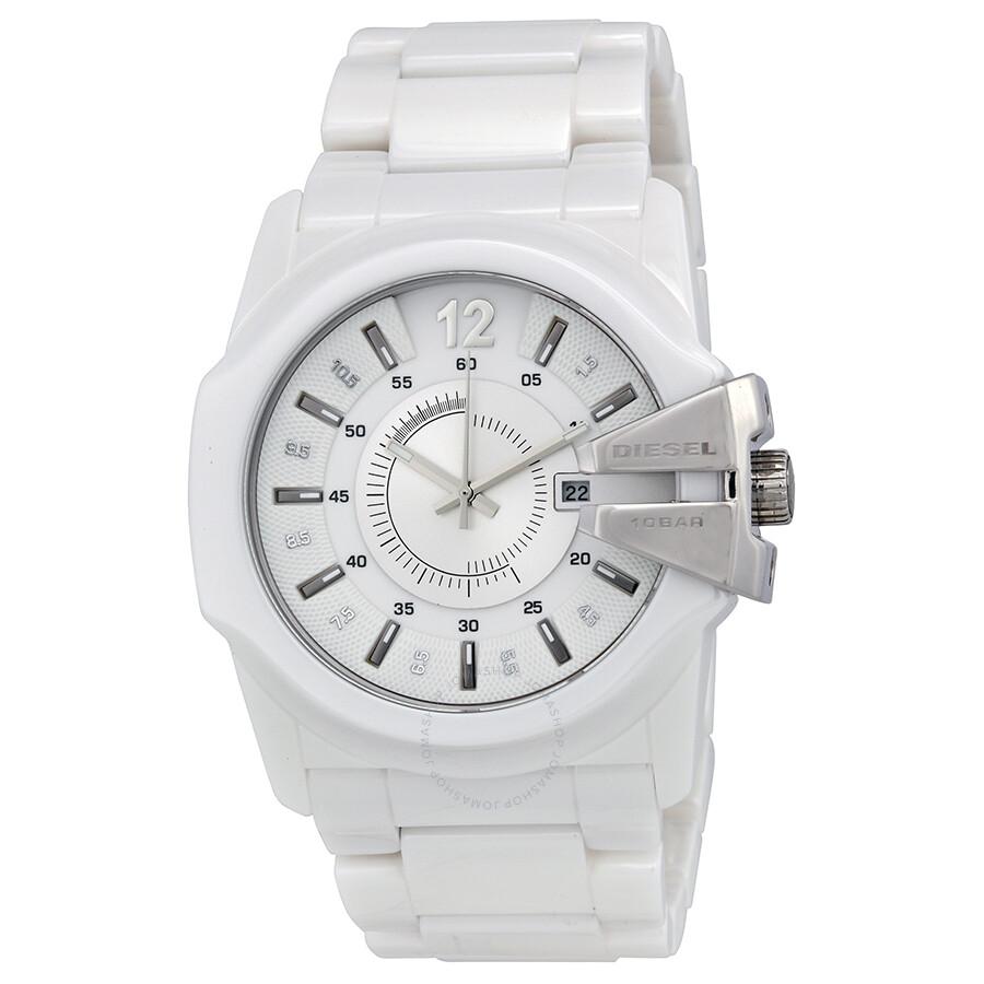 Diesel timeframes white ceramic men 39 s watch dz1515 diesel watches jomashop for Ceramic man watch