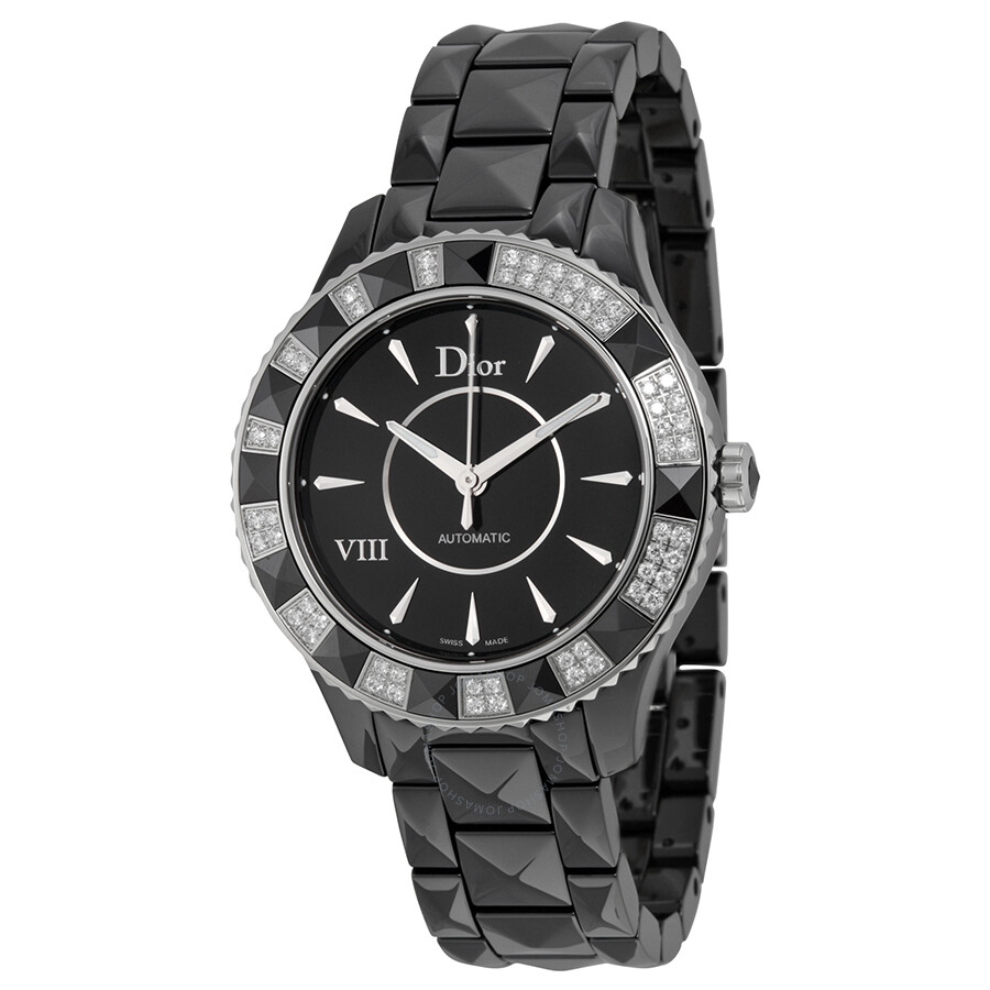 Dior VIII Automatic Diamond Black Ceramic Ladies Watch CD1245E1C001 at Jomashop.com & JomaDeals.com