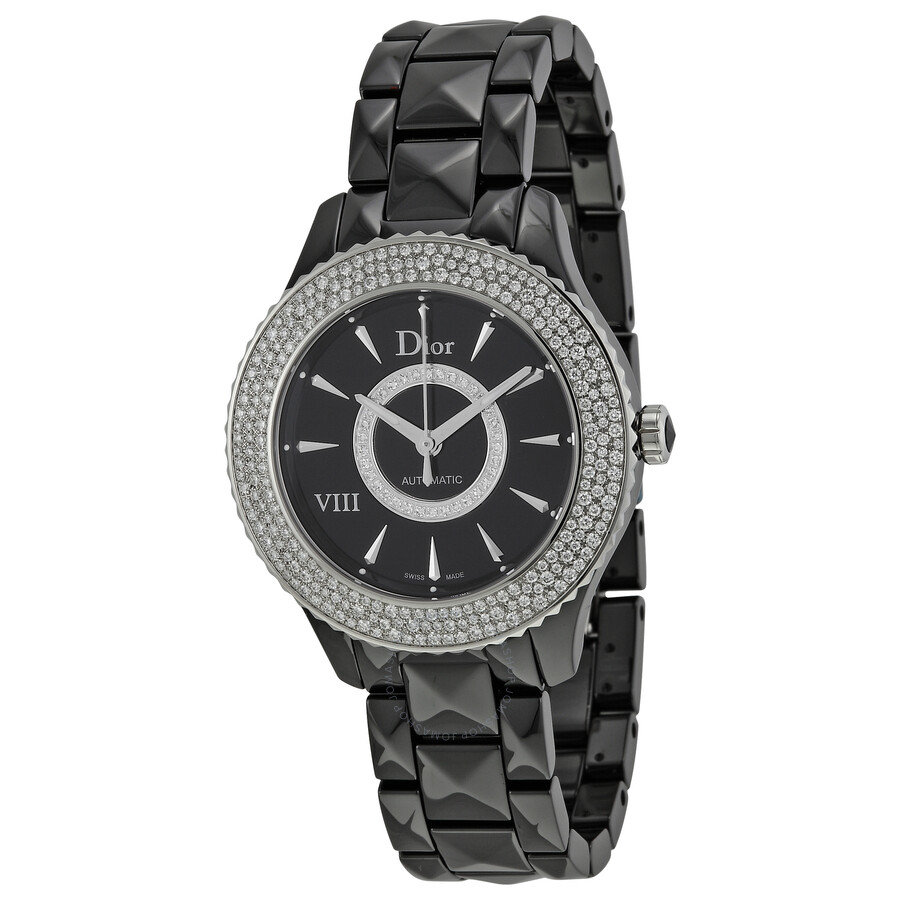 Dior VIII Black Dial Ceramic Ladies Watch CD1245E2C001 at Jomashop.com & JomaDeals.com