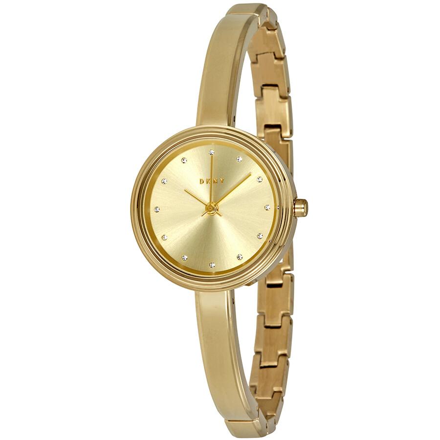 Dkny murray ladies gold tone bangle watch ny2599 dkny watches jomashop for Ladies bangle watch