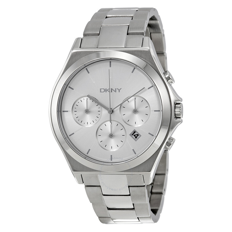 Dkny parsons chronograph silver dial stainless steel men 39 s watch ny2378 dkny watches jomashop for Dkny watches