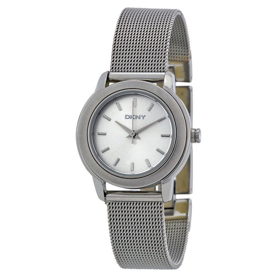 Dkny silver dial stainless steel bracelet ladies watch ny8552 dkny watches jomashop for Dkny watches