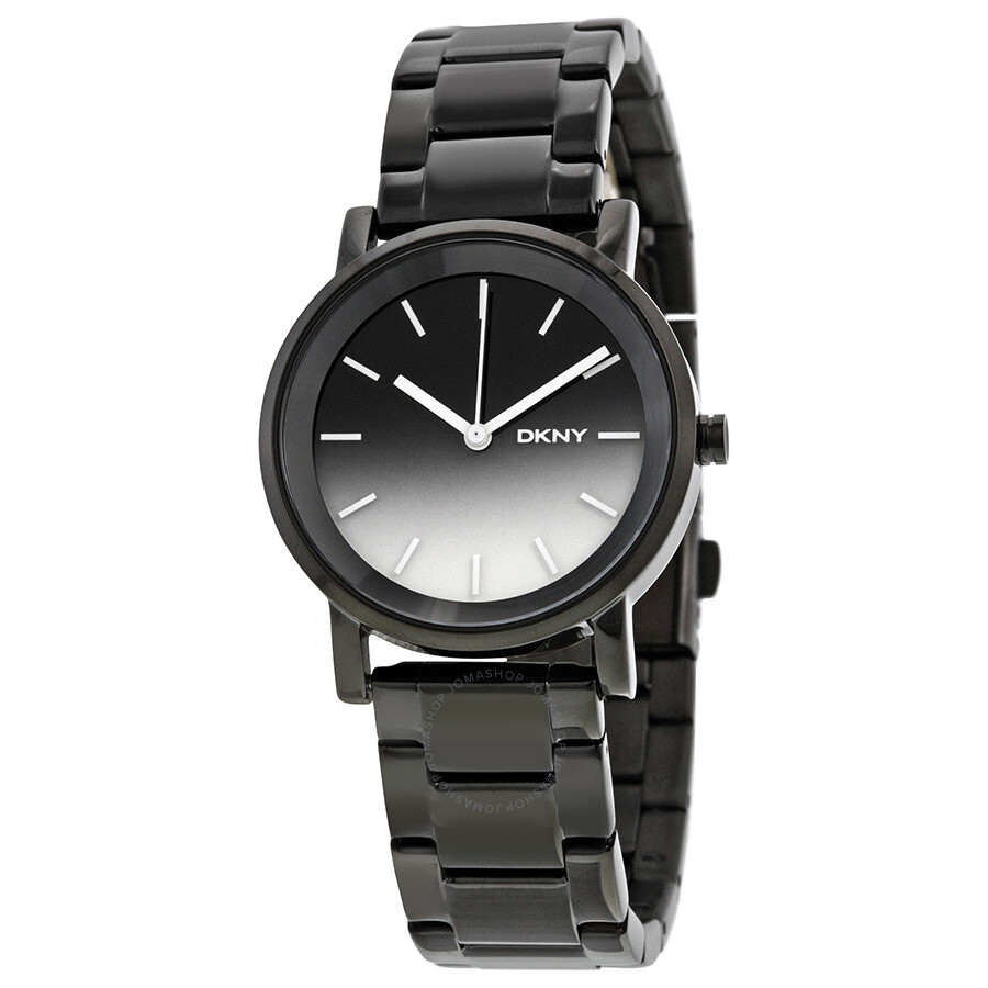 DKNY Soho Ombre Dial Black PVD Stainless Steel Mens Watch NY2184