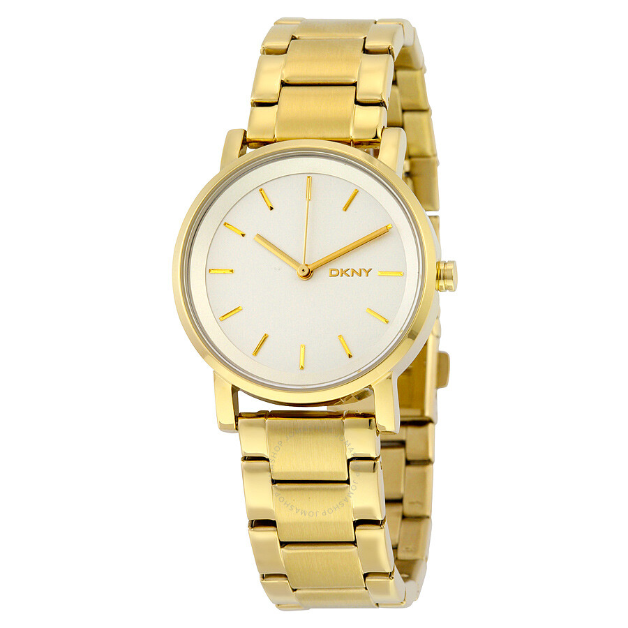 Dkny soho white dial gold tone ladies watch ny2343 dkny watches jomashop for Dkny watches