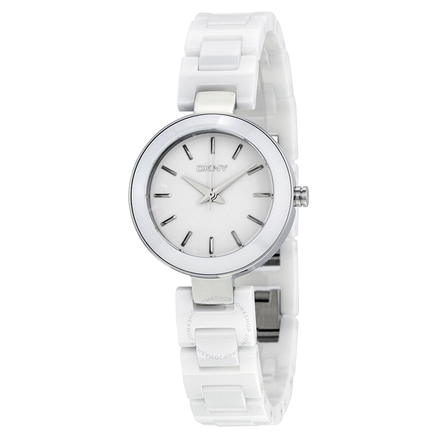 watches stainless fossil white steel jesse ladies watch glitz misaki dial