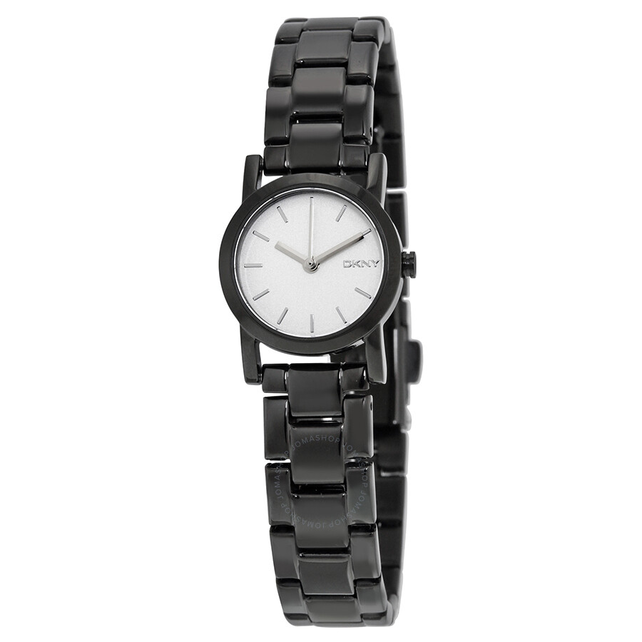 white watch ladies dial watches black dkny pvd