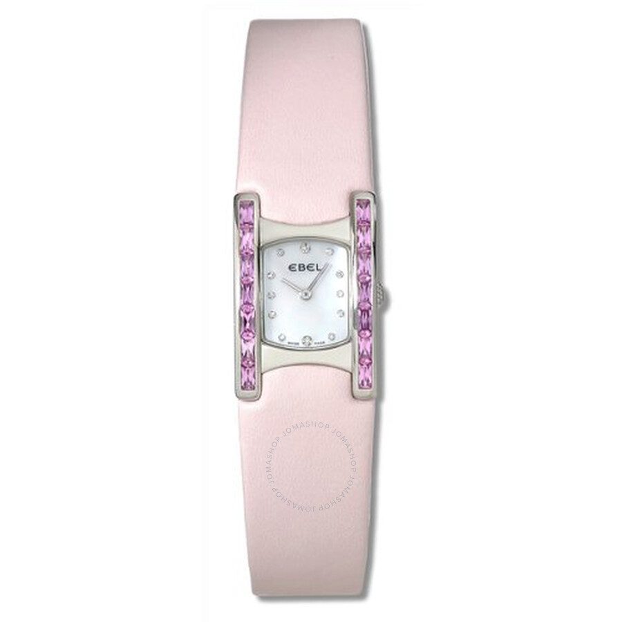 Ebel Beluga Manchette White Mother Of Pearl Dial Ladies Quartz Watch 9057A28-1998035530