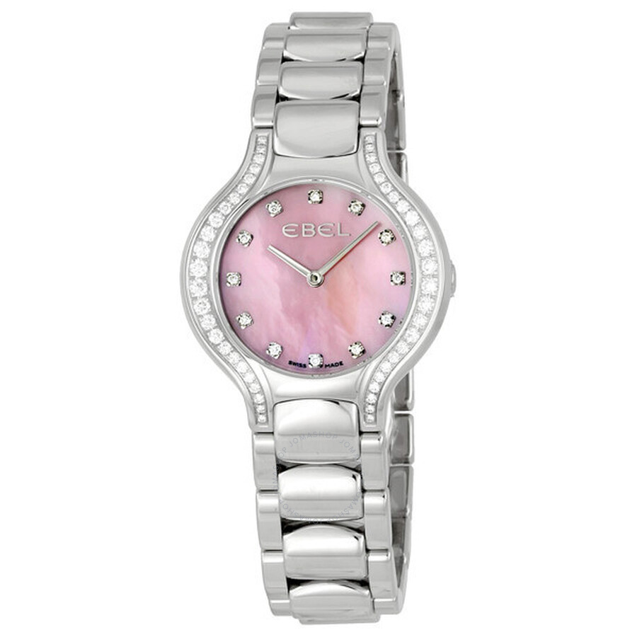 Ebel Beluga Pink Mother of Pearl Diamond Ladies Watch 1215858