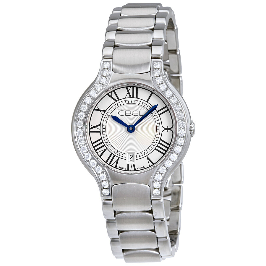 Ebel Beluga Silver Dial Stainless Steel Bracelet Ladies Watch 1216069