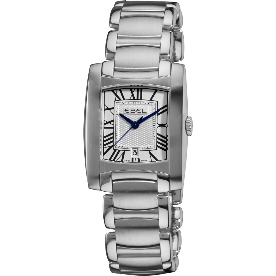 Ebel Brasilia Silver Dial Stainless Steel Ladies Watch 1216036
