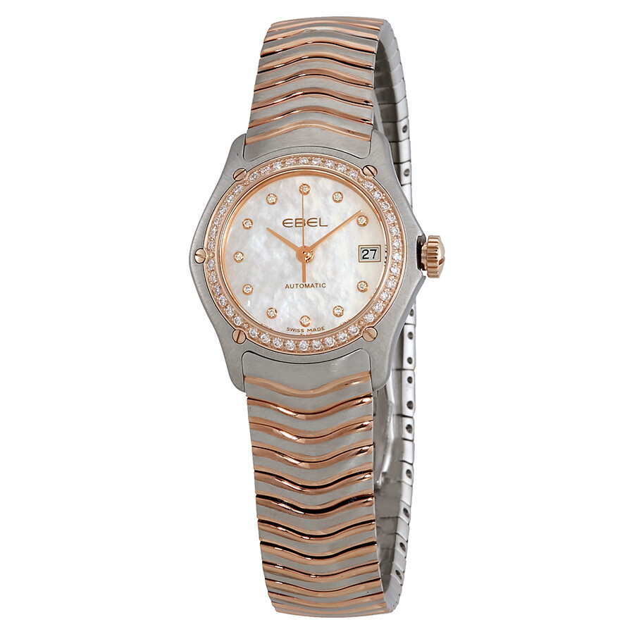 Ebel Classic Automatic Diamond White Dial Ladies Watch 1215928