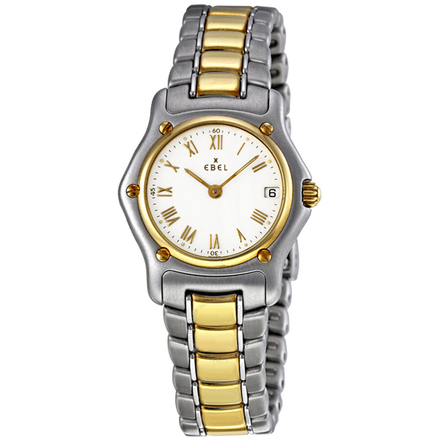 Ebel Classic Lady White Dial Steel and 18K Yellow Gold Ladies Watch 1088901/0260C