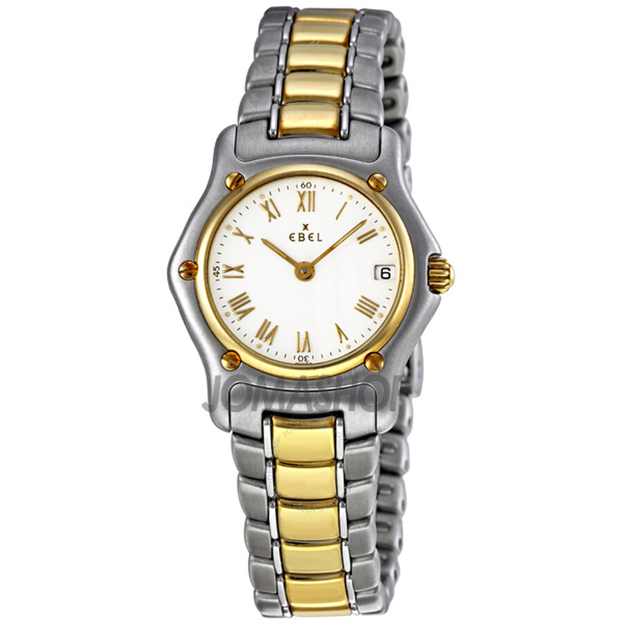 Ebel Classic Lady White Dial Steel and Gold Bracelet Ladies Watch 1088901