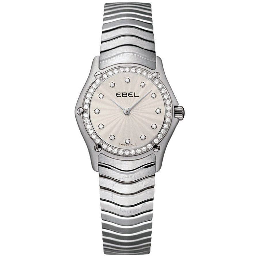 Ebel Classic Silver Dial Stainless Steel Ladies Quartz Watch 9003F14-16925