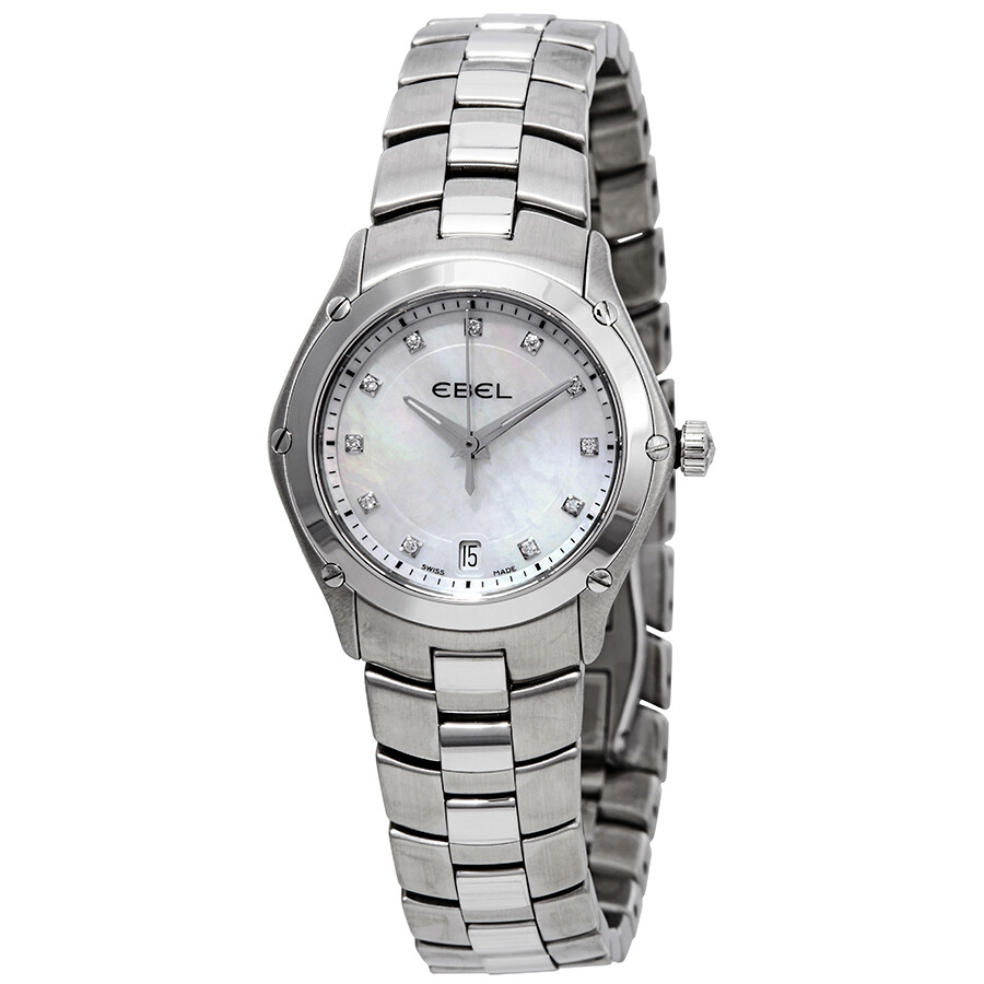 Ebel Classic Sport Mother of Pearl Dial Diamond Ladies Watch 1215982