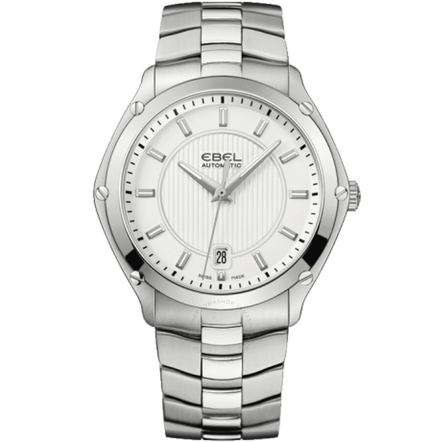 Ebel Classic Sport Silver Dial Automatic Mens Watch 1215992