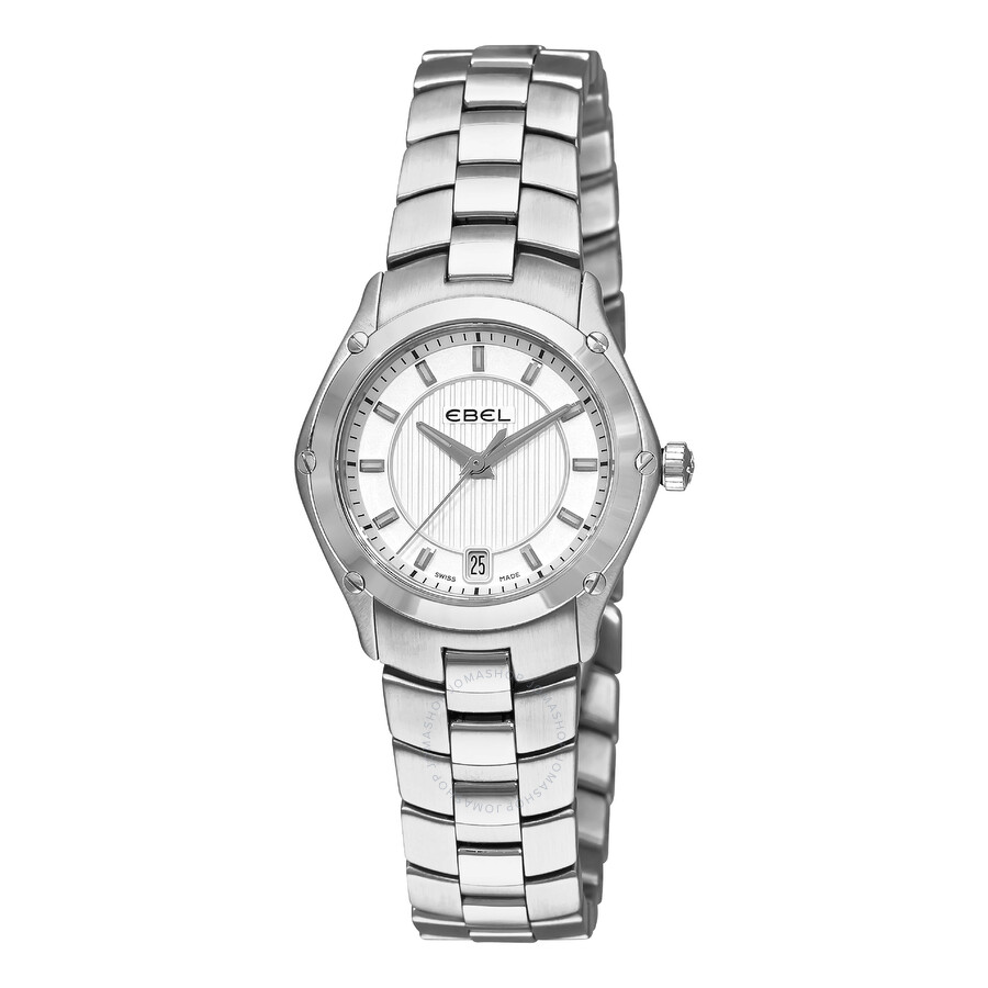 Ebel Classic Sport Silver Dial Stainless Steel Ladies Watch 1216015