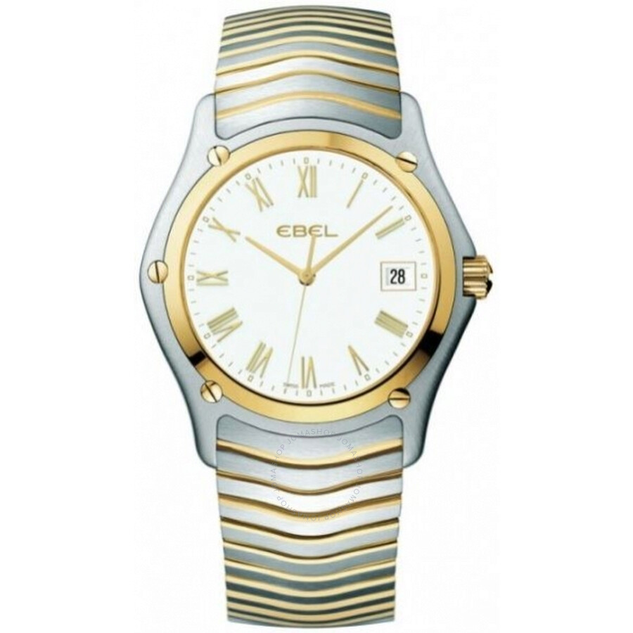 Ebel Classic White Dial 18 Carat Yellow Gold Mens Watch 1255F41-0225