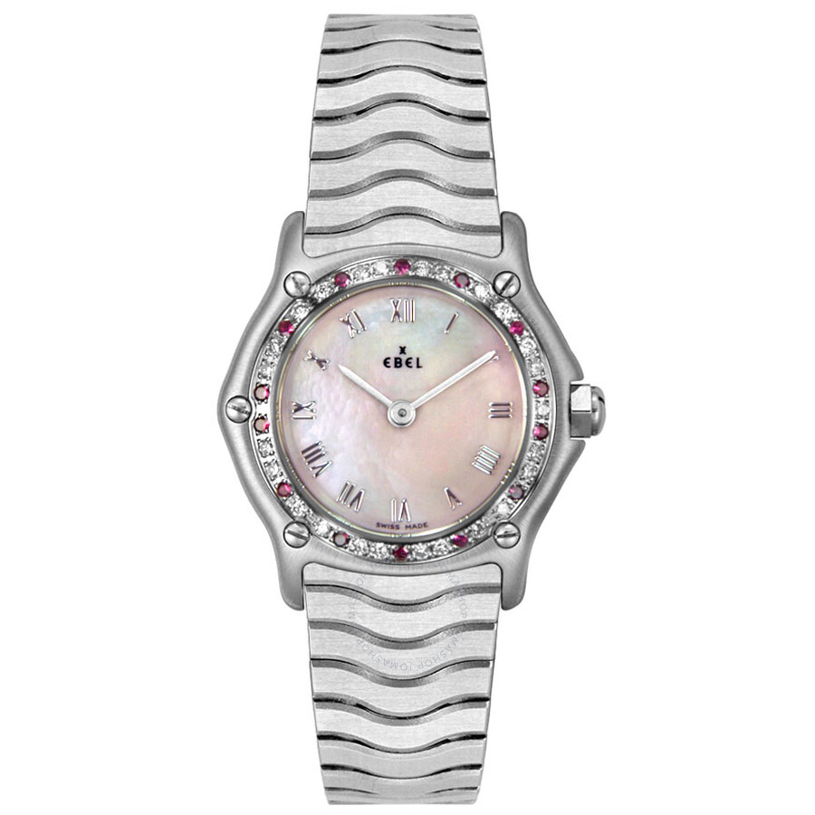 Ebel Sport Classic Mother Of Pearl Dial Stainless Steel Ladies Quartz Watch 9157116-922028P