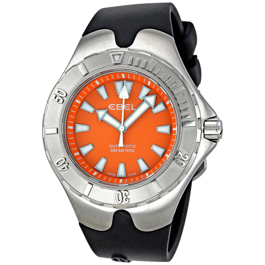 Ebel Sportwave Aquatica Orange Dial Automatic Mens Watch 1215583