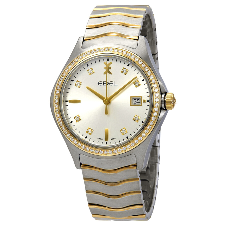 Ebel wave silver diamond dial men 39 s watch 1216337 wave ebel watches jomashop for Diamond dial watch