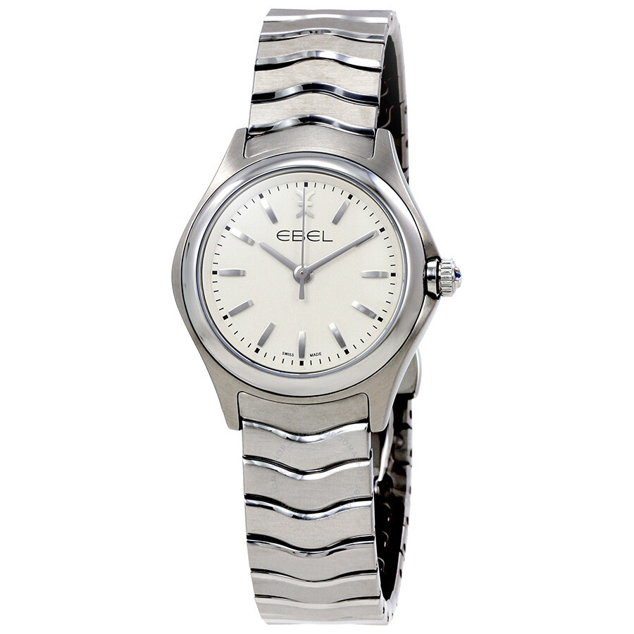 Ebel Wave White Dial Ladies Quartz Watch 1216192