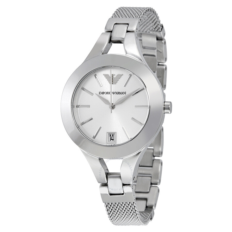 Emporio Armani Chiara Silver Dial Stainless Steel Ladies Watch AR7401